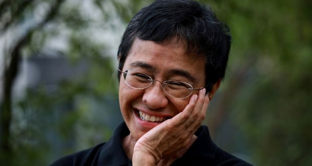 Nobel Peace Prize laureate Maria Ressa, chief executive and executive editor of online news site Rappler. Photograph: EPA