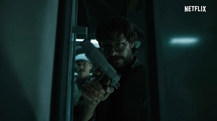 "Álvaro Morte as The Professor in Money Heist season 5 ""Volume 2"". Photo: Netflix"